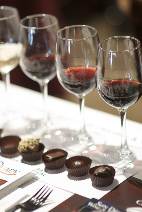 wein and chocolate
