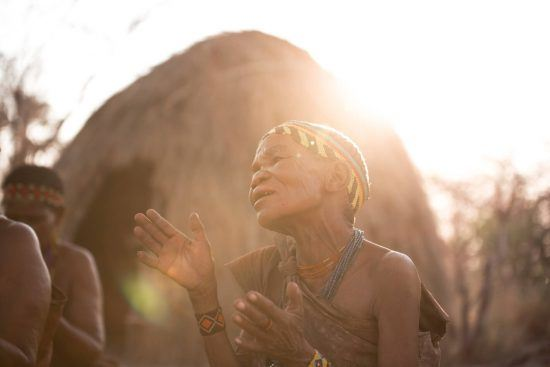 Story-telling is a central part of Bushmen life