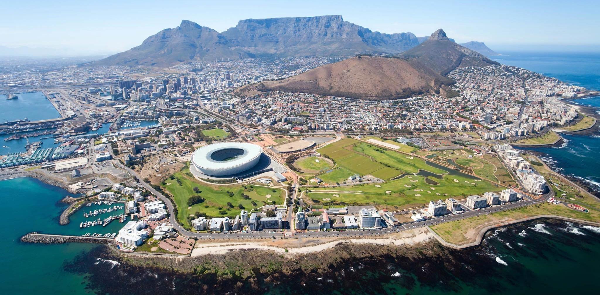 vue aérienne du Cap