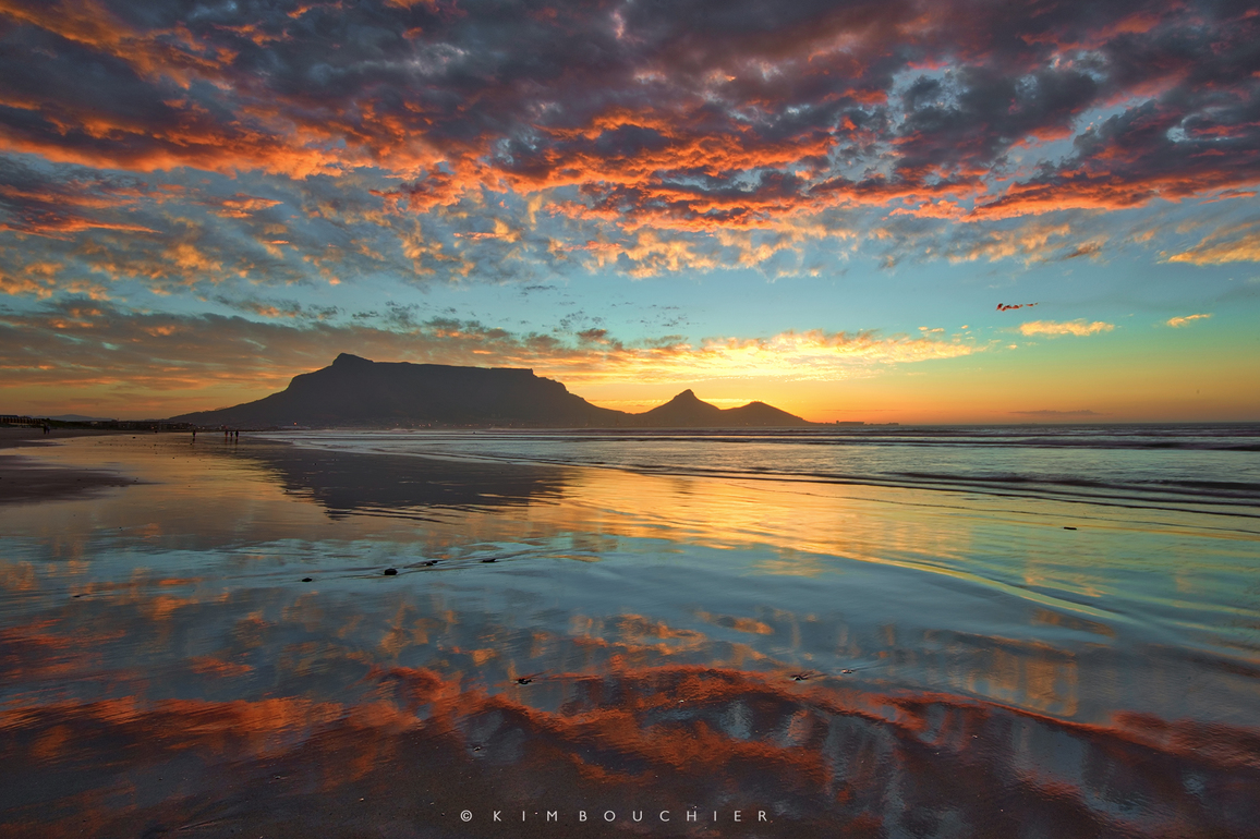 Table Mountain sunset view