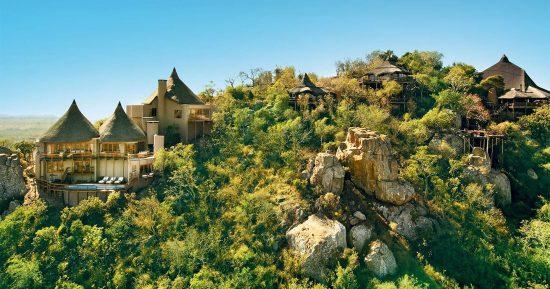 An panoramic view of Ulusaba Rock Lodge, Sabi Sand
