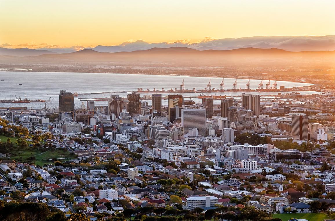 Sunrise over Cape Town