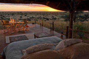 Nuit à la belle étoile au Tswalu Malori Lodge, réserve de Tswalu, Kalahari, Afrique du Sud