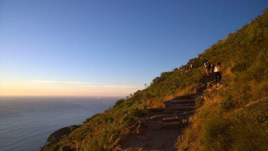 Randonnée de Lion's Head dans la ville du Cap.