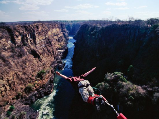 Victorial Falls offers one of the most thrilling bungee jumps in the world