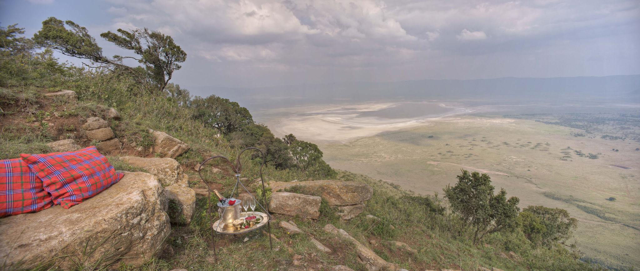 View of Ngorongoro Crater from the Ngorongoro Lodge