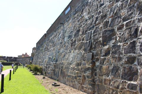 A wall at the Castle of Good Hope