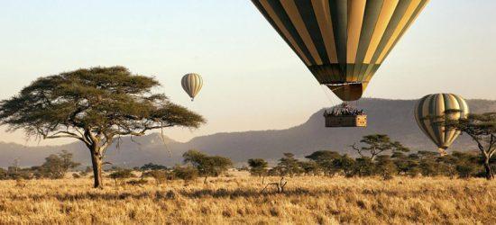 Eine außergewöhnliche Safari in Ostafrika: Heißluftballons über der Savanne in Kenia