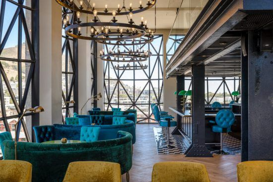 The exquisite restaurant and bar at the Silo Hotel
