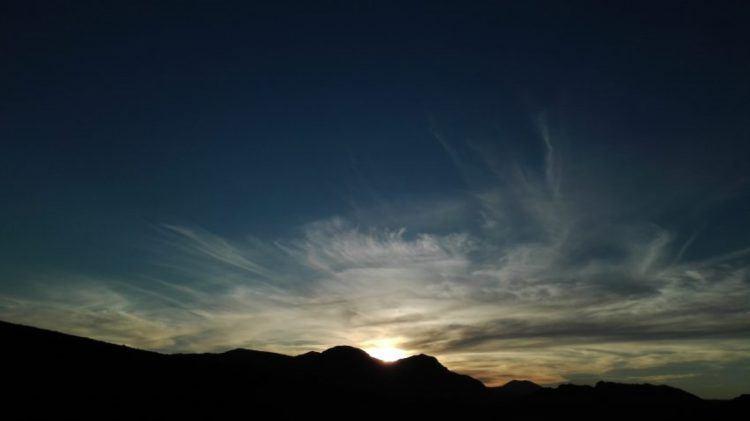 Coucher de soleil dont on se souvient longtemps dans le Cederberg