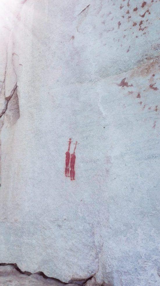Art rupestre dans les grottes et caves du Cederberg