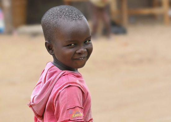 A smiling child, Africa