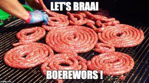 South African slang boerewors braai