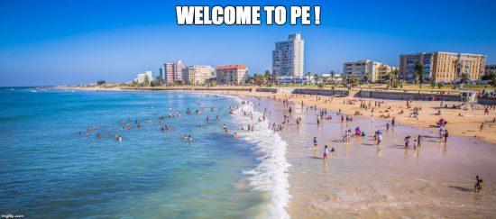 South African slang PE for Port Elizabeth