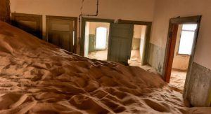 room in abandoned house ghost town luderitz southern namibia