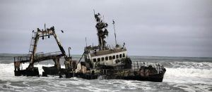 Shipwreck on the skeleton coast Namibia