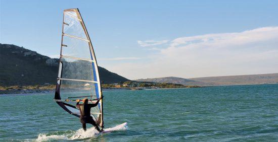 Windsurf sur le lagon de Langebaan