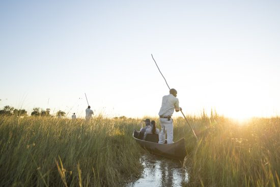 Mokoro ride at camp okavango