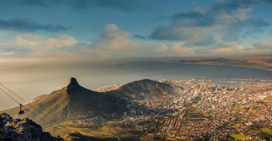 Vista panorâmica da Cidade do Cabo a partir da Table Mountain
