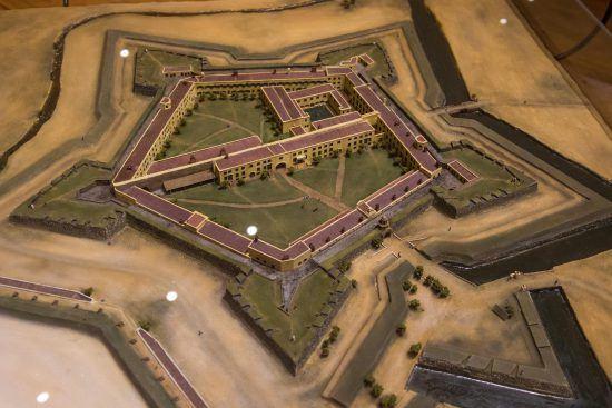 A model of the Castle, Cape Town