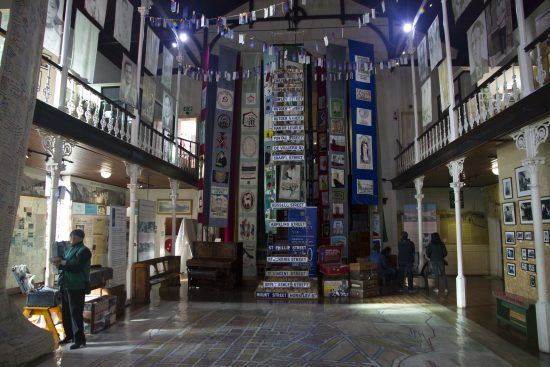 Inside the District 6 Museum in Cape Town