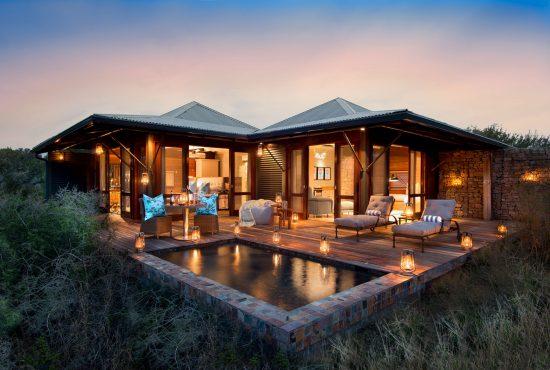 Kwandwe Ecca Lodge dans la réserve de Kwandwe, séjour safari sans paludisme.
