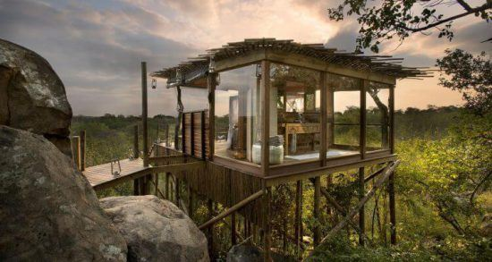 Das moderne Kingston Treehouse im Lion Sands Game Reserve