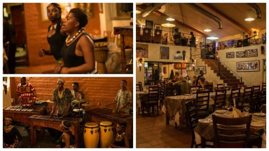 Marco's African Place recebe apresentações musicais durante o jantar