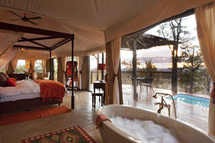 Habitación de The Elephant Camp en las cataratas Victoria