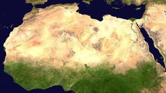 Satellitenbild Sahara