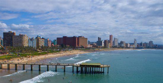 Durbans Beachfront mit Sandstrand