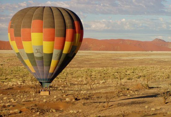 Hot air balloon ride in Namibia