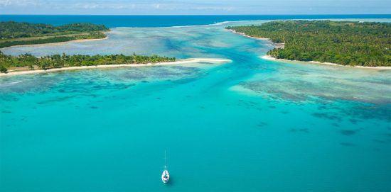 Aerial view of Sainte Marie Island in Madagascar