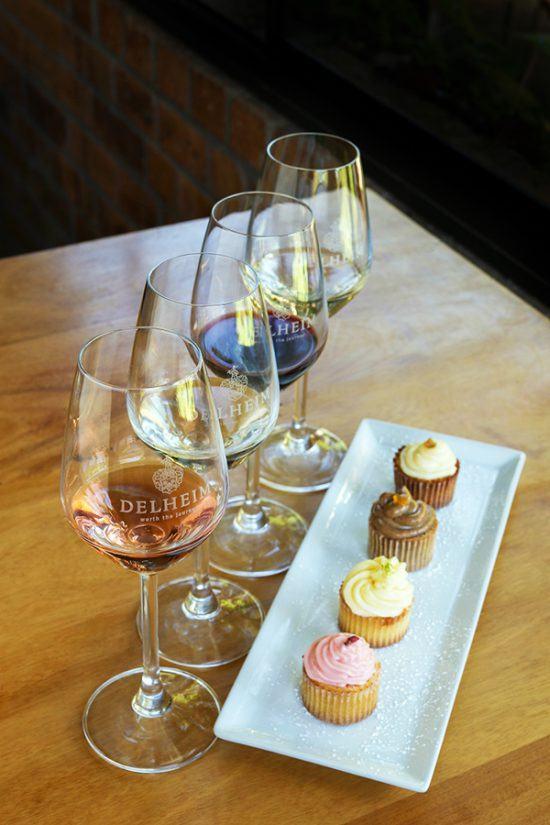Degustação de vinhos e cupcakes da Delheim