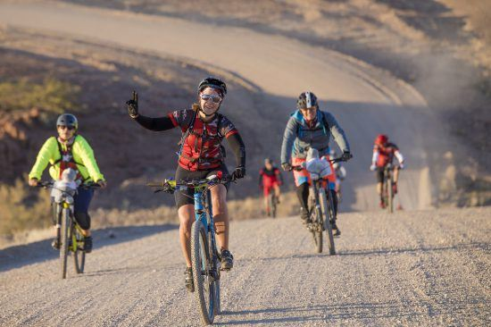 desert cycle with friends