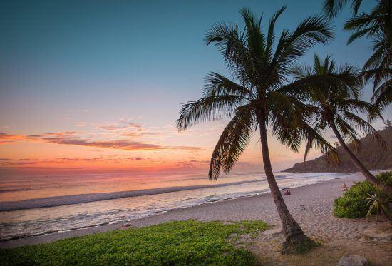 Sunset at Reunion Island