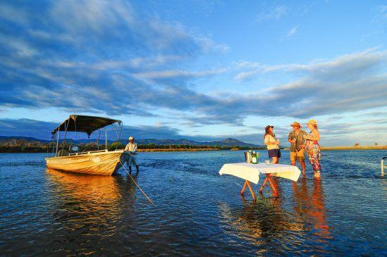 A boat cruise in Zambezi River