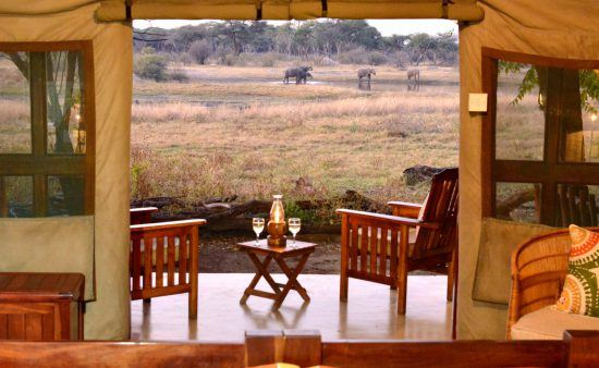 Guests at The Hide enjoy prime viewing of Hwange National Park wildlife