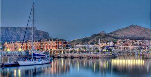 Vue panoramique du V&A Waterfront, le Cap, Afrique du Sud