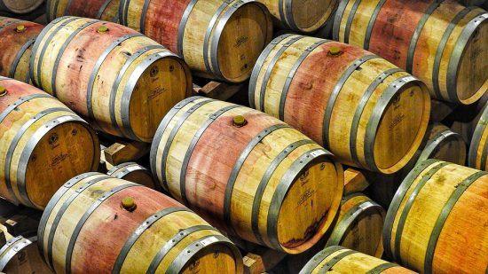 Barris de vinho em Groot Constantia