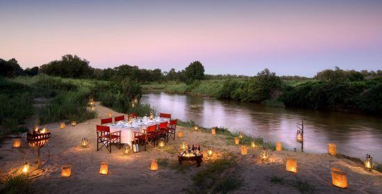 Bush dinner at Lion Sands, Kruger