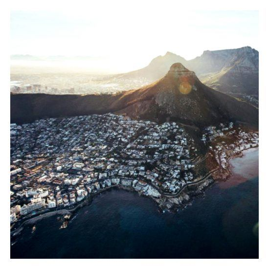 Cape Towns's Table Mountain and Lion's Head and city view