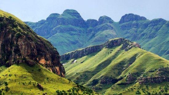landscape drakensberg view mountains kwazulu natal