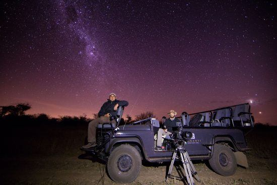 Star gazing at Makanyi Private Game Lodge