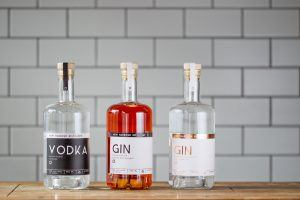 The gins offered at New Harbour Distillery Cape Town