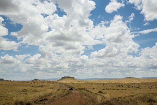 Nuvens agraciam paisagem na África Oriental
