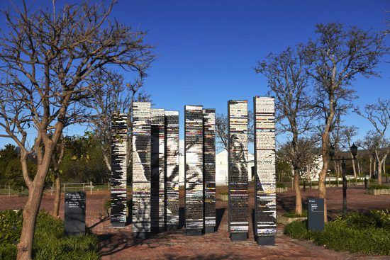 Spier Mosaic installation - The Dying Slave