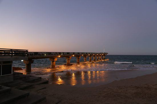 Strandpromenade in Port Elizabeth in Südafrika