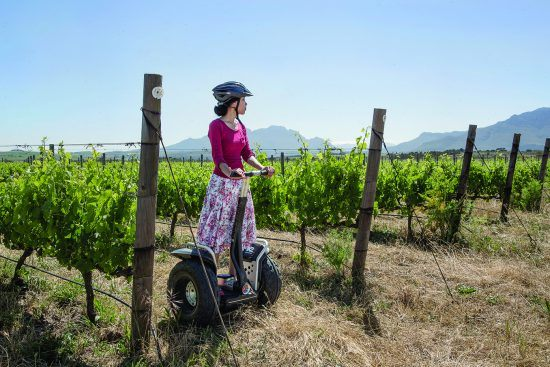 Spier Segway with a guest