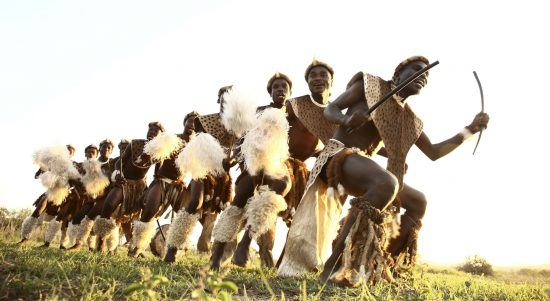 Zulu dancers in South Africa at Phinda Rock Lodge